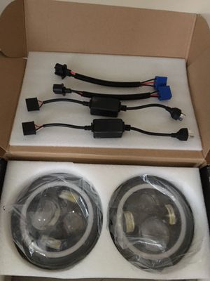 Jeep Wrangler jk led halo headlights for Sale in Romeoville, IL