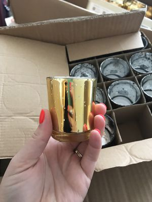 72 gold votive candle holders wedding for Sale in Renton, WA