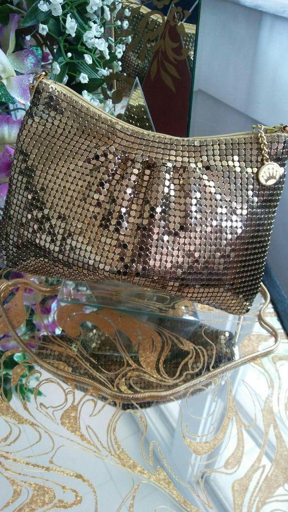 Heavy Gold Mesh Evening Bag