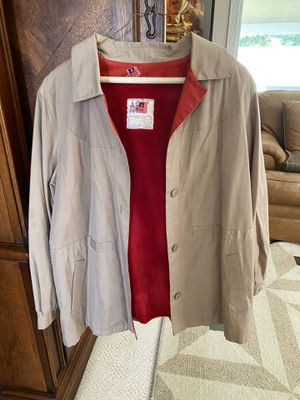 Woman's London Fog brand hooded jacket- knee length- size 16 for Sale in Fresno, CA