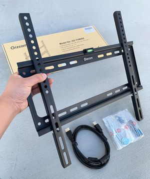 """(NEW) $10 Fixed 26""""-55"""" TV Wall Mount Bracket Low Profile, Max 110Lbs (w/ 5ft HDMI Cable) for Sale in South El Monte, CA"""