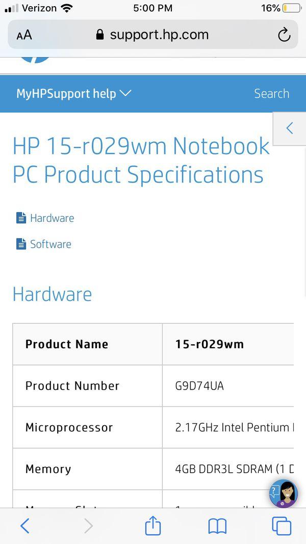 Hp -15r029wm notebook like new