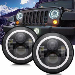 DOT Approved 7in Round LED Headlight For Jeep Wrangler JK TJ LJ CJ Hummer H1 H2 for Sale in Ontario, CA