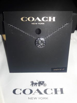 BRAND NEW COACH SILVER OPEN CIRCLE ADJUSTABLE NECKLACE $88 RETAIL for Sale in Bakersfield, CA