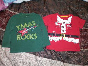 Boys 3T Xmas shirts -$8 both for Sale in El Paso, TX