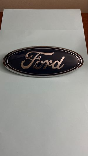 FORD TRUCK FRONT GRILLE EMBLEM BLUE OVAL 9x3.75 FACTORY Ford Transit for Sale in Springfield, VA