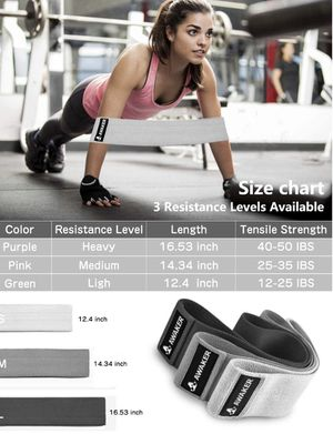 🏃🏻🏃🏻🏃🏻 Booty Workout Bands, Resistance Bands Set for Women Legs and Hip Anti Slip Hip Bands Wide Workout Bands Sports Fitness Bands Resistance Loops for Sale in Modesto, CA