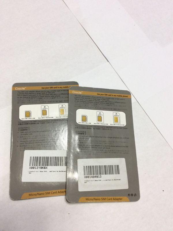 SIM card adapter 2 pack