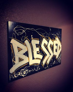 """24 x 36 """"blessed"""" painting for Sale in Houston, TX"""