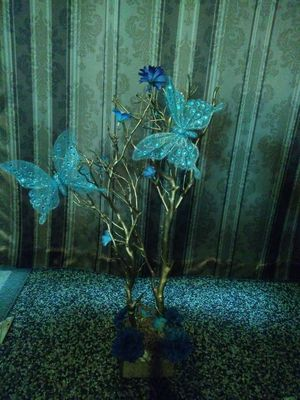 Centerpiece for quinceanera baby showers royal blue$20 for Sale in Fresno, CA