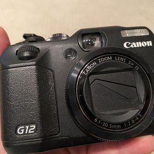Canon G12 10 MP Digital Camera w 5x Optical Zoom for Sale in Lodi, CA