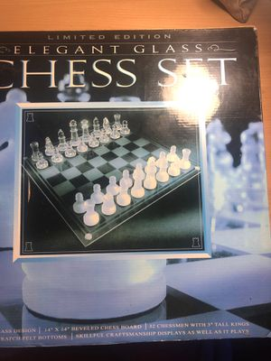 "Limited edition Elegant glass chess set 14""x14"" for Sale in Sacramento, CA"