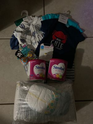 Baby bundle all new clothes (diapers opened ) for Sale in West Palm Beach, FL