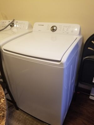 Washer and dryer samsung. moisture sensor. one month of use. include connections for Sale in Summersville, WV
