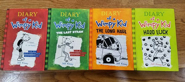 Diary of a Wimpy Kid -4 hard cover books