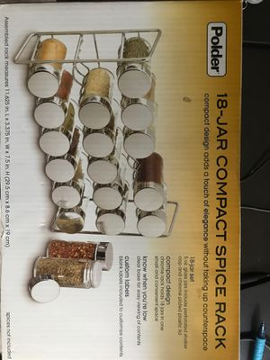 18 JAR COMPACT SPICE RACK for Sale in King of Prussia, PA