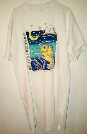 Vintage 1995 Artist Colorful fish T-shirt Skater look 90s. for Sale in Phoenix, AZ