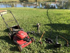 Lawn mower and weed whacker, edger and blower for Sale in Davie, FL