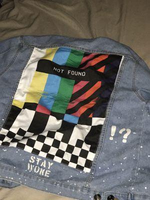 "Denim custom jacket ""Stay Woke"" for Sale in Groveport, OH"
