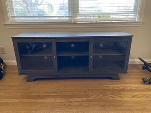 """Tv Stand. Gray Wood Finish. 54""""x17""""x23"""" for Sale in Burlingame, CA"""