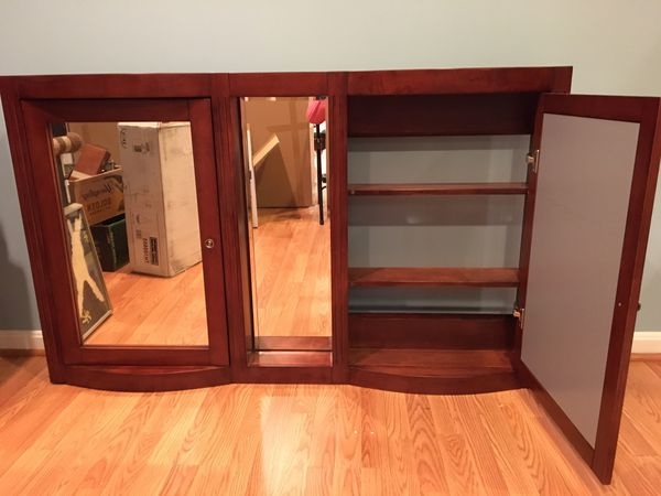 Double mirrored-door medicine cabinet