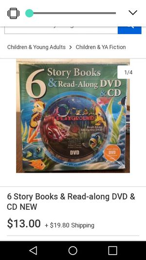 6 Storybooks w/ Read along DVD & CD for Sale in San Antonio, TX
