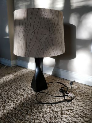 Contemporary lamp base with free shade for Sale in Houston, TX