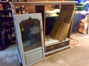 FREE entertainment center for DIY-er for Sale in Durham, NC