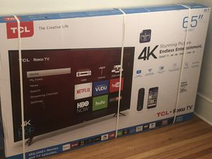 Brand new in the box.... TCL 4K 65inch Roku Tv selling because I brought a bigger Tv... for Sale in Atlanta, GA