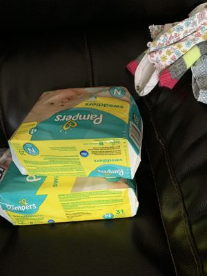 Baby clothes, diapers and supplies for Sale in Winston-Salem, NC