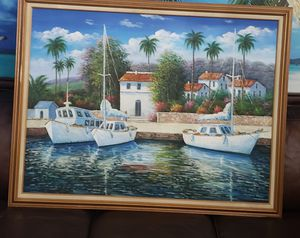 53x41 inches boat painting for Sale in New Port Richey, FL