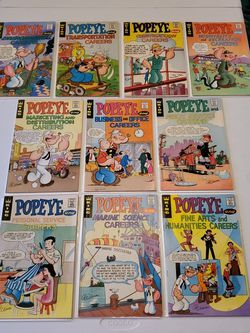Popeye Career Comics #E-2, E-4, E-5, E-8-E-14, King Comics 1970s Bronze Age Lot Of 10 for Sale in Fresno,  CA