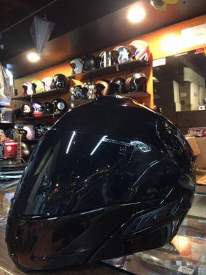 New gloss black dot Dual visor modular motorcycle helmet $120 for Sale in Whittier, CA