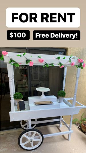 Party and event candy cake dessert cart. Free delivery within 10 miles! for Sale in Medley, FL