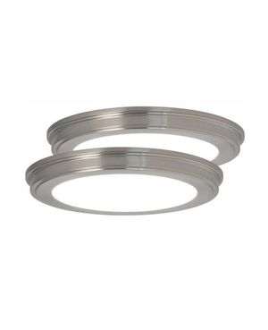 Commercial Electric 13 in. Brushed Nickel Color Changing LED Ceiling Flush Mount (2-Pack) for Sale in South El Monte, CA