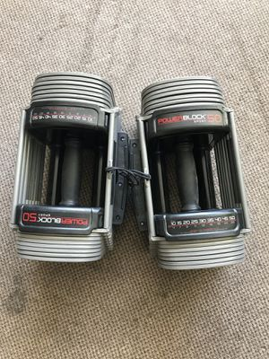 Powerblock Dumbbells 5-50lbs Like New, Excellent Condition for Sale in San Jose, CA