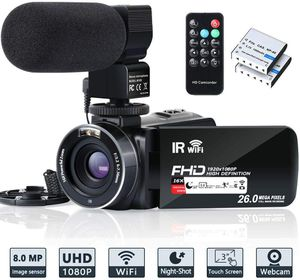 Video Camera Camcorder WiFi IR Night Vision FHD 1080P 30FPS YouTube Vlogging for Sale in Los Angeles, CA