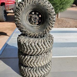 Baja claws on steel wagon wheels for Sale in Phoenix, AZ