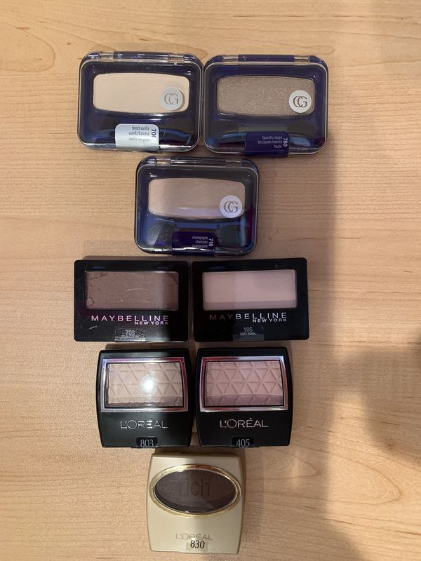 Covergirl, Maybelline and L'Oréal single eyeshadows
