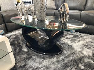 Contemporary glossy black finish coffee table for Sale in Irving, TX