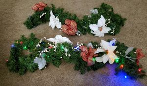 2 x LED Christmas Garlands with Ornaments ($15 Each) for Sale in Everett, WA