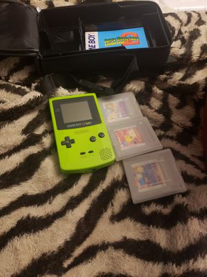 Gameboy color. With 3 games and case for Sale in Orange, CA