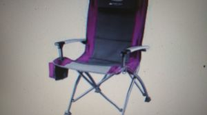 Ozark Trail Folding High Back Chair with Head Rest, Fuchsia for Sale in Indianapolis, IN