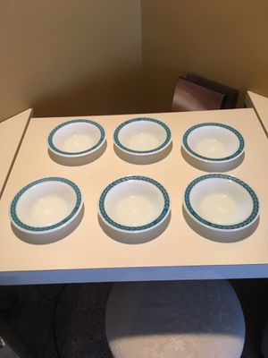 Vintage Pyrex Tableware Turquoise Set of 6 for Sale in Philadelphia, PA