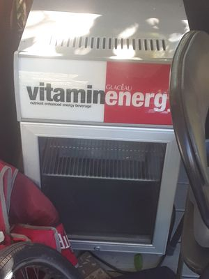Vitamin energy mini fridge cooler for Sale in Columbus, OH