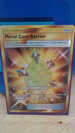 Metal Core Barrier Secret Rare Trainer Card for Sale in Anaheim, CA