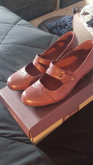 Clark's Maryjane Cute Shoes Burgundy & Grey for Sale in Virginia Beach, VA