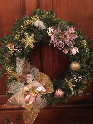 Christmas door wreath, 24 in size for Sale in Worcester, MA