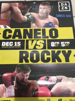 Canelo Vs Rocky Fight Poster DAZN for Sale in Perris,  CA
