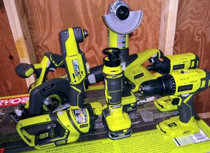 Ryobi 18-volt 8 piece kit with 3 Batteries and Charger for Sale in Villa Rica, GA